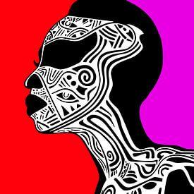 Afrikanische Stammeskunst von Harry Hadders