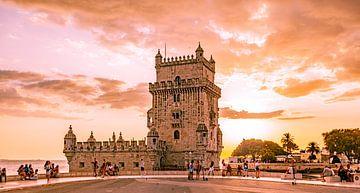 Turm von Belem (Abendrot) von Stewart Leiwakabessy