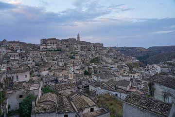 Matera - Altstadt im Sonnenuntergang von Christian Volk