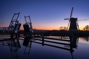 Moulins à vent et pont Kinderdijk sur Sander van Driel