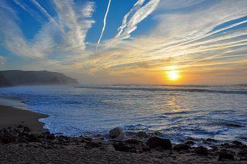 Zonsondergang op het strand van Rogier Vermeulen