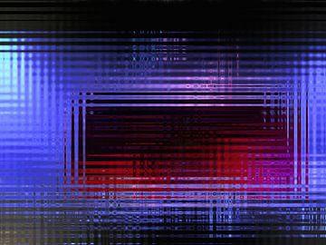 Abstrakt in Rot und Blau von Maurice Dawson