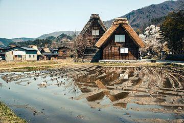 Huisjes in Shirakawa-go, Japan van Expeditie Aardbol