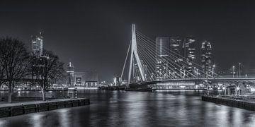 Erasmusbrug in Rotterdam in de avond - 4 van