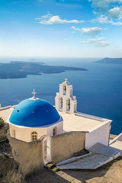 Kerk Agios Nikolaos in Oia op Santorini, Griekenland van Christian Müringer