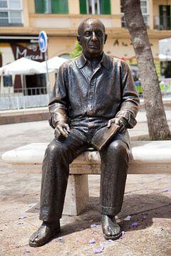 Pablo Picasso standbeeld in Malaga van