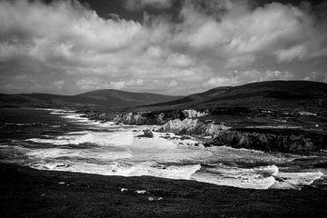 Die Klippen von Achill Island, Irland (B&W) von Bo Scheeringa Photography