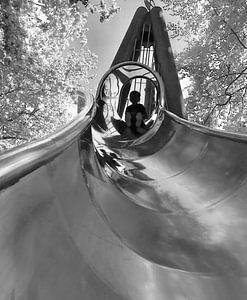 Glijbaankunst in zwart-wit van Erica Pijs