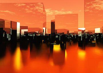 architecture futuriste ville Q-City 0 sur Max Steinwald