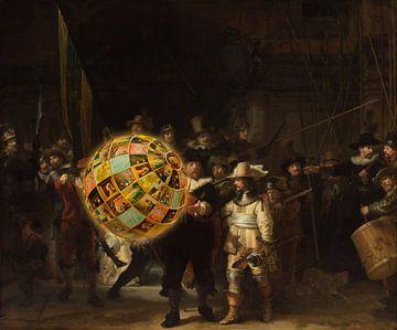 De Nachtwacht van Rembrandt van Rijn van Rudy en Gisela Schlechter