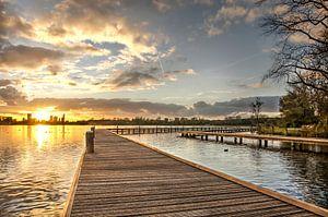 Coucher du soleil au lac de Kralingen