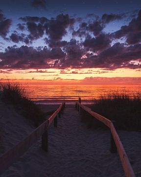 Zonsondergang aan de Portugese kust van Ian Segers