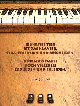 Piano-Pein à la Wilhelm Busch van Dirk H. Wendt
