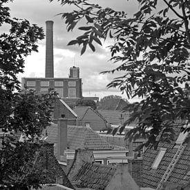 Lichtfabriek in Leiden in zwartwit van Simone Meijer