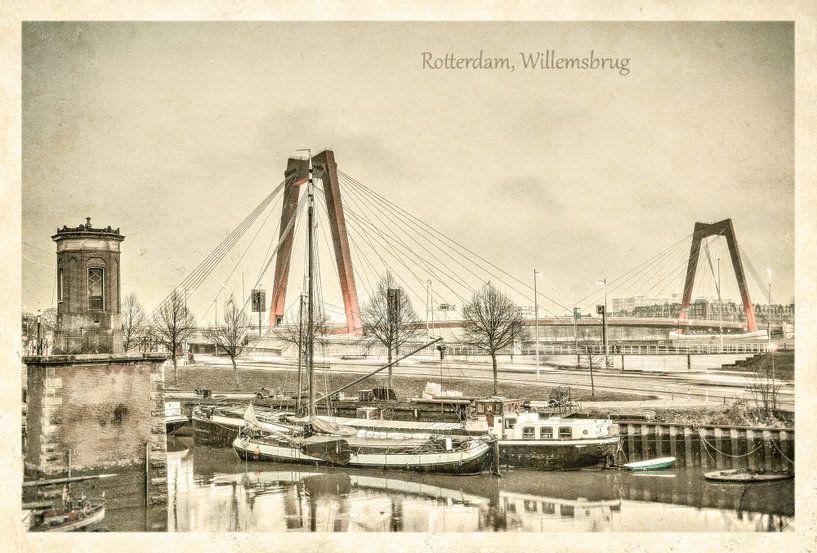 Oude ansichten: Rotterdam Willemsbrug van Frans Blok