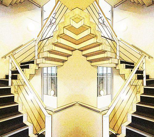 Knipoog naar Escher van