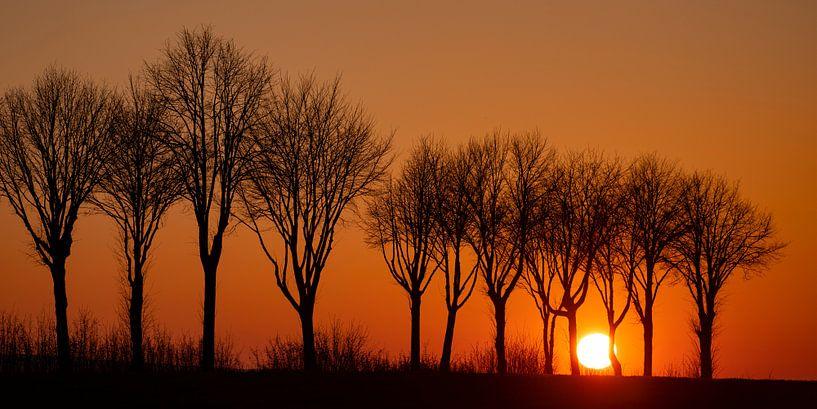 Sonnenuntergang bei Wollbrandshausen von Andreas Müller