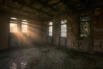 Lumière du soleil à travers la fenêtre. sur Roman Robroek