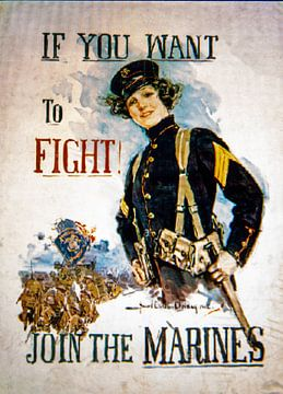 Wervingposter Marines WWI