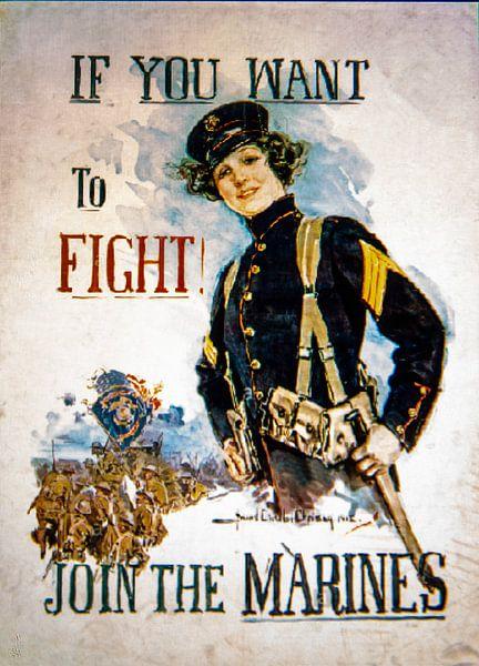 Wervingposter Marines WWI van Brian Morgan