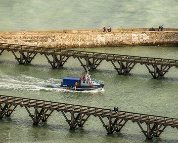 Binnenkomst vissersboot van