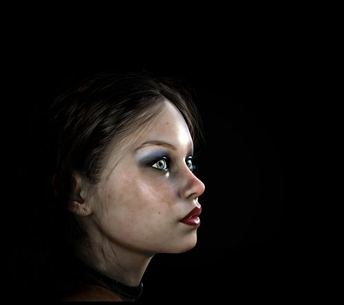 Portret  vrouw / meisje van ellenilli .