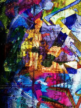 Modern, Abstract kunstwerk - Dreams Full Of Color Part 1 van