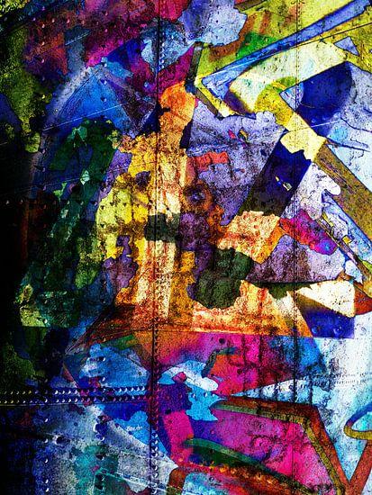 Modern, Abstract kunstwerk - Dreams Full Of Color Part 1 van Art By Dominic