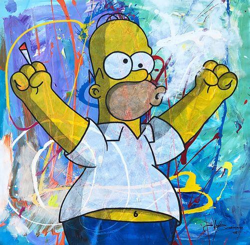 Homer Simpson met Joint van