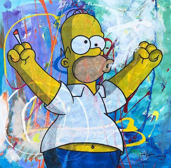 Homer Simpson met Joint van Frans Mandigers