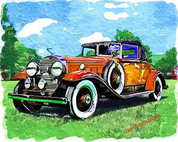 Cadillac Fleetwood, Orange 1930 sur Natasja Tollenaar