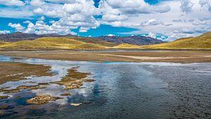 Bergmeer op de hoogvlakte van de Andes, Peru