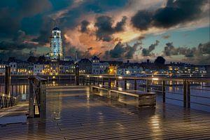 Deventer Stadsgezicht bij nacht van