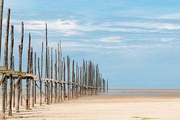 Steiger strand Vlieland van Marco Linssen