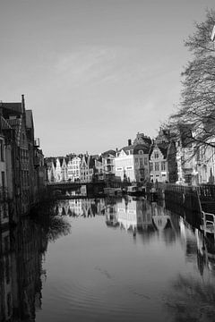Reflectie in het water van Gent von Carole Clément