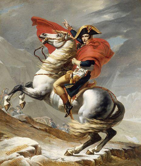 Napoleon doorkruist de Alpen, Jacques Louis David - 1802