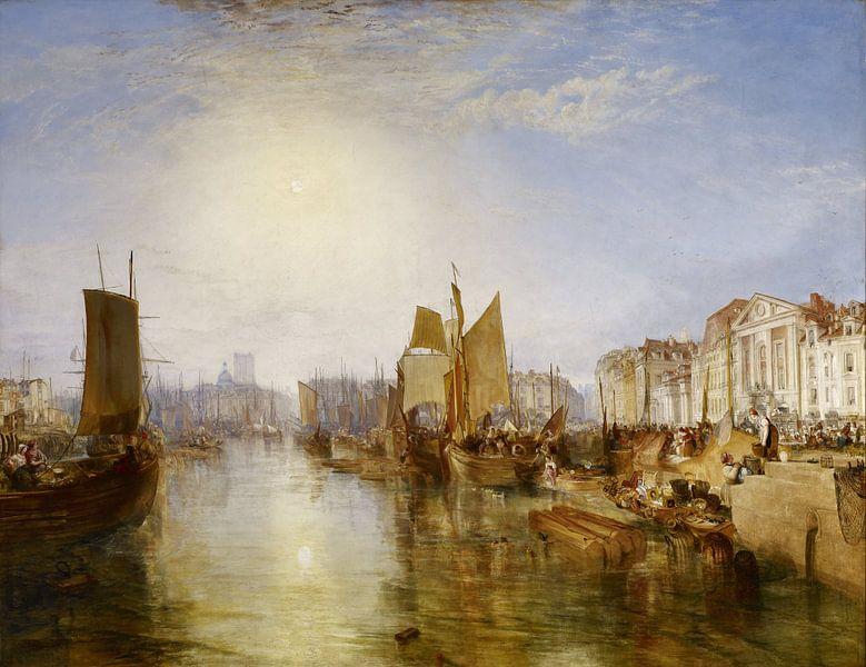 William Turner. The Harbor of Dieppe van 1000 Schilderijen