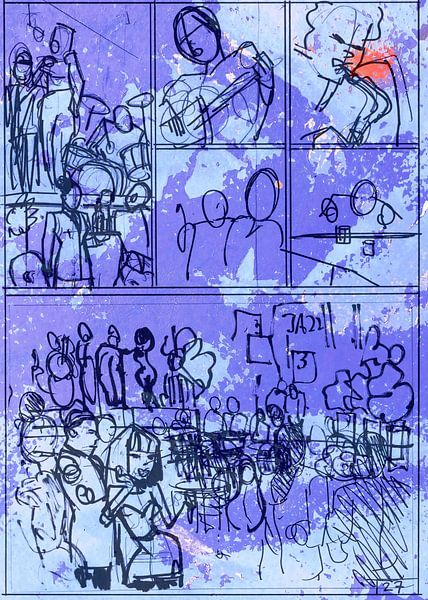 Strip Splinter Goes Urban (Schets p27) van MoArt (Maurice Heuts)