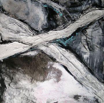 abstraktion schwarz-weiss von walli gutmann