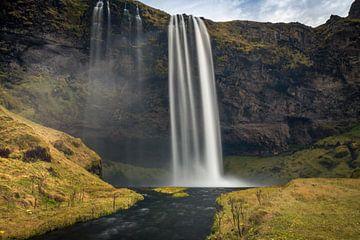 Seljalandsfoss-Wasserfall Island von Samantha Schoenmakers