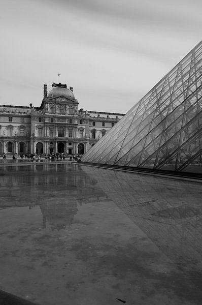 Mordern en klassiek Louvre van Sean Vos