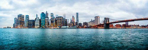 Manhattan and Brooklyn Bridge von Aad Clemens