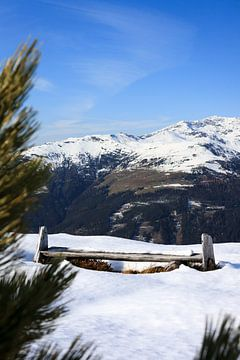 Un banc dans les montagnes sur Ginkgo Fotografie