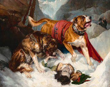 Alpine Mastiffs reanimieren einen verzweifelten Reisenden, Edwin Landseer