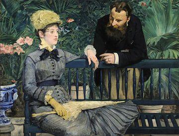 Dans la serre, Édouard Manet sur Meesterlijcke Meesters