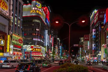 Als de avond valt in Shinjuku (Japan) van Mylène Amoureus