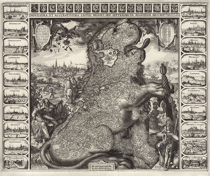 Leonis Belgici van World Maps