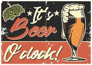 It`s Beer O´Clock Poster van