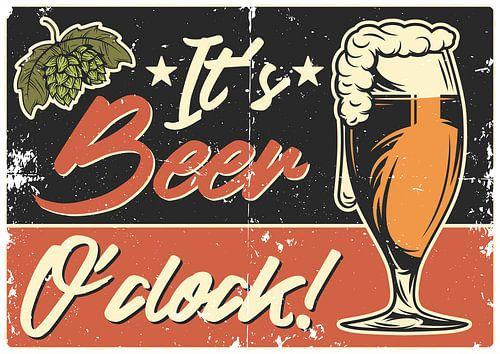 It`s Beer O´Clock Poster von Gabi Siebenhühner