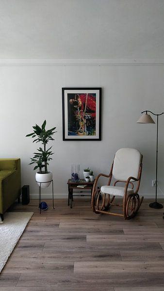 Kundenfoto: Miles Davis 2 von Frans Mandigers, auf gerahmtes poster